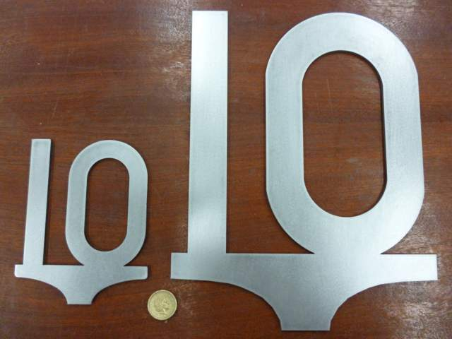 Large 10mph Speed Sign - Steel Profile